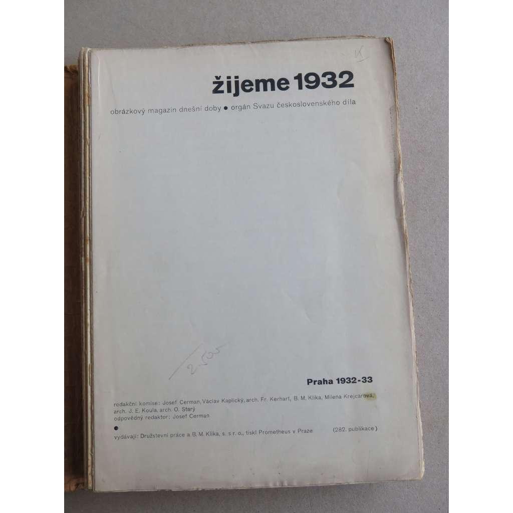 Žijeme 1932 - (Družstevní práce) - nekompletní