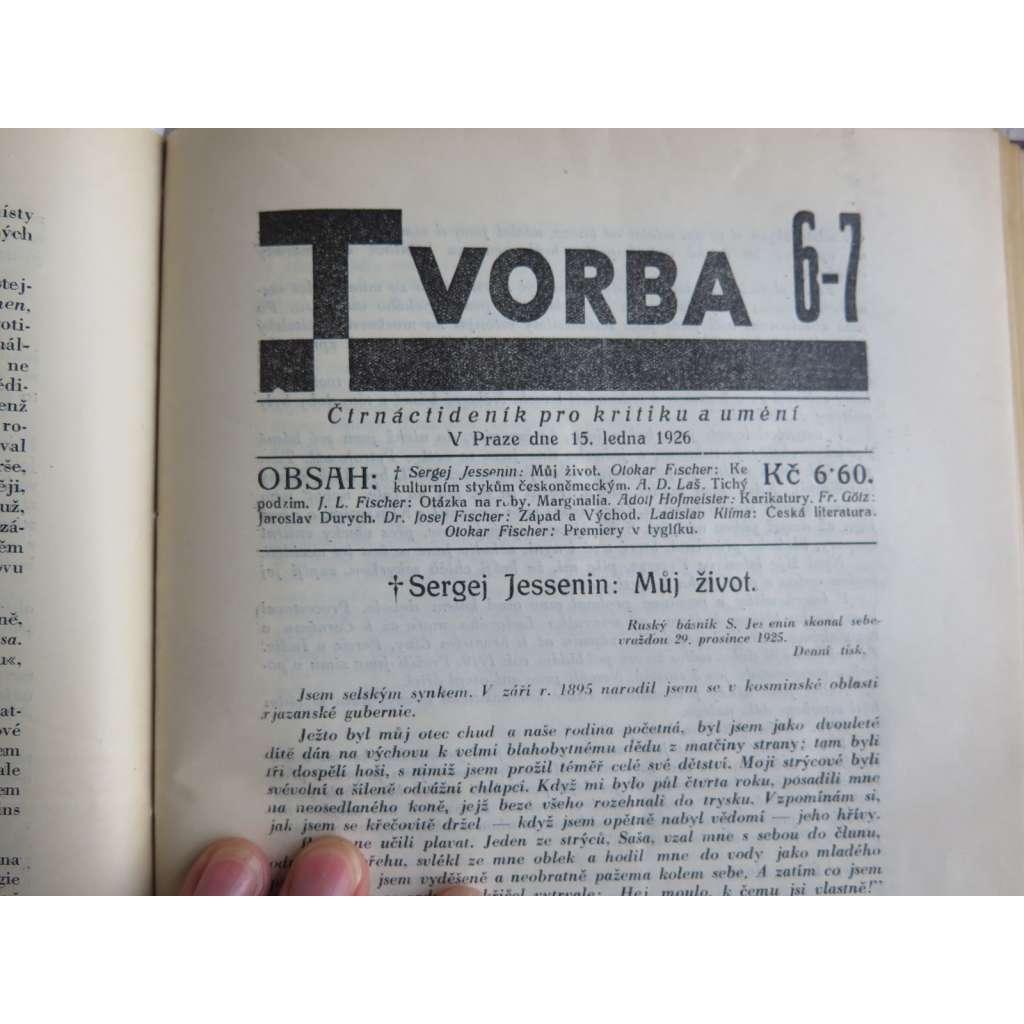 Tvorba, list pro kritiku a umění - 1926