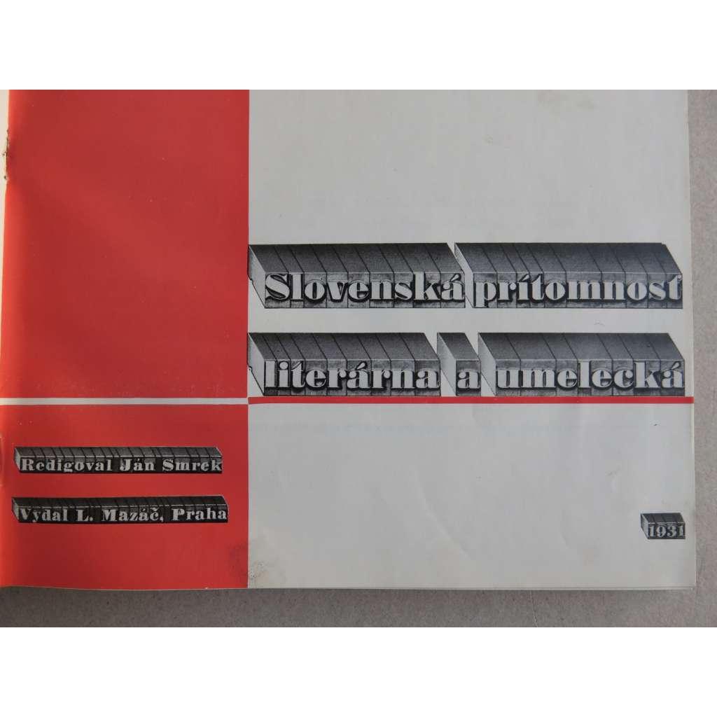Slovenská prítomnosť literárna a umelecká (SLOVENSKO)
