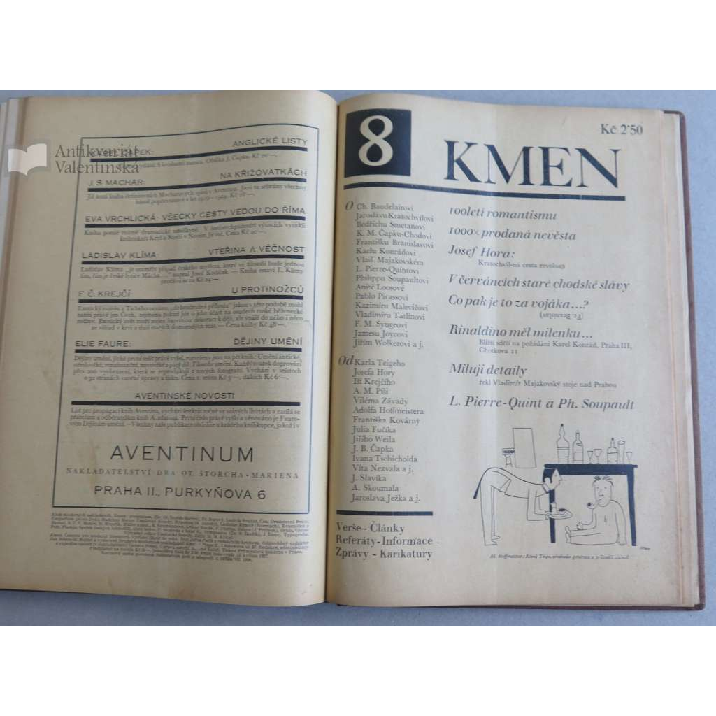 Kmen, časopis pro moderní literaturu - roč. 1., 1927 - (1-12 s obálkami)