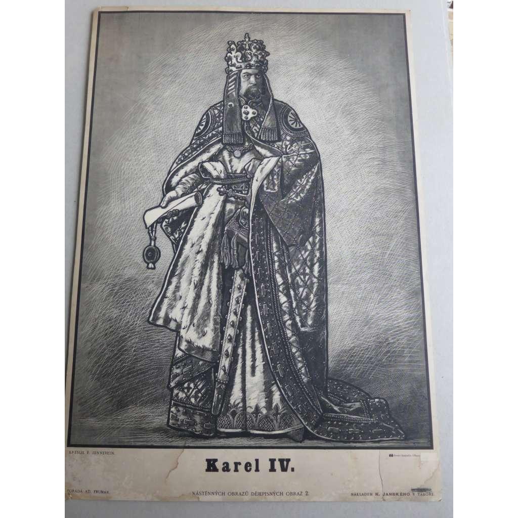 Karel IV, český král - školní plakát