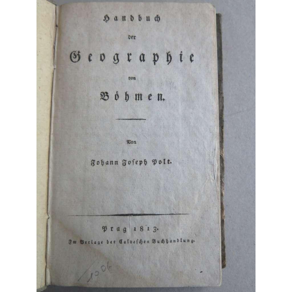 Handbuch der Geographie von Böhmen (1813) - Příručka zeměpisu Čech