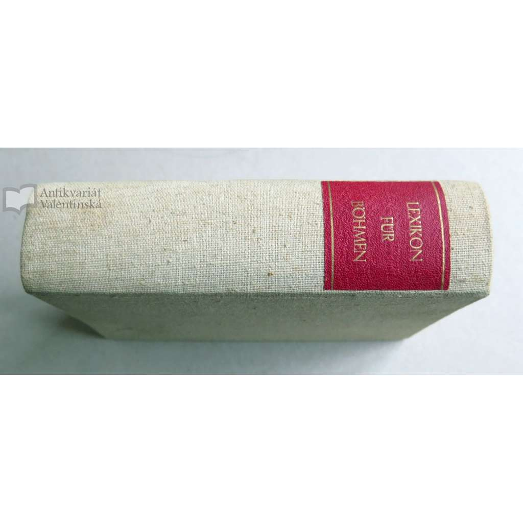 Reise-Taschen-Lexikon für Böhmen 1833 -Lexikon Čech (seznam obcí a míst)