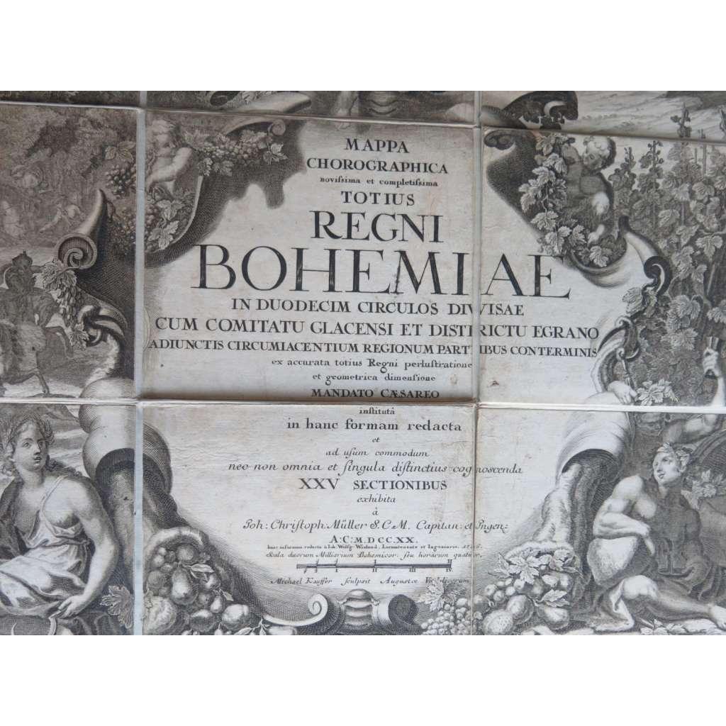 Müllerova mapa Čech (1726) - Království české - Mappa Chorographica novissima et completissima totius Regni Bohemiae