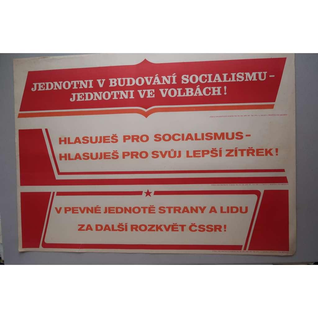 Plakát - volby - socialismus - komunismus, propaganda