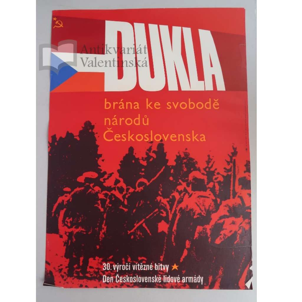 Plakát - Dukla - den armády - komunismus, propaganda