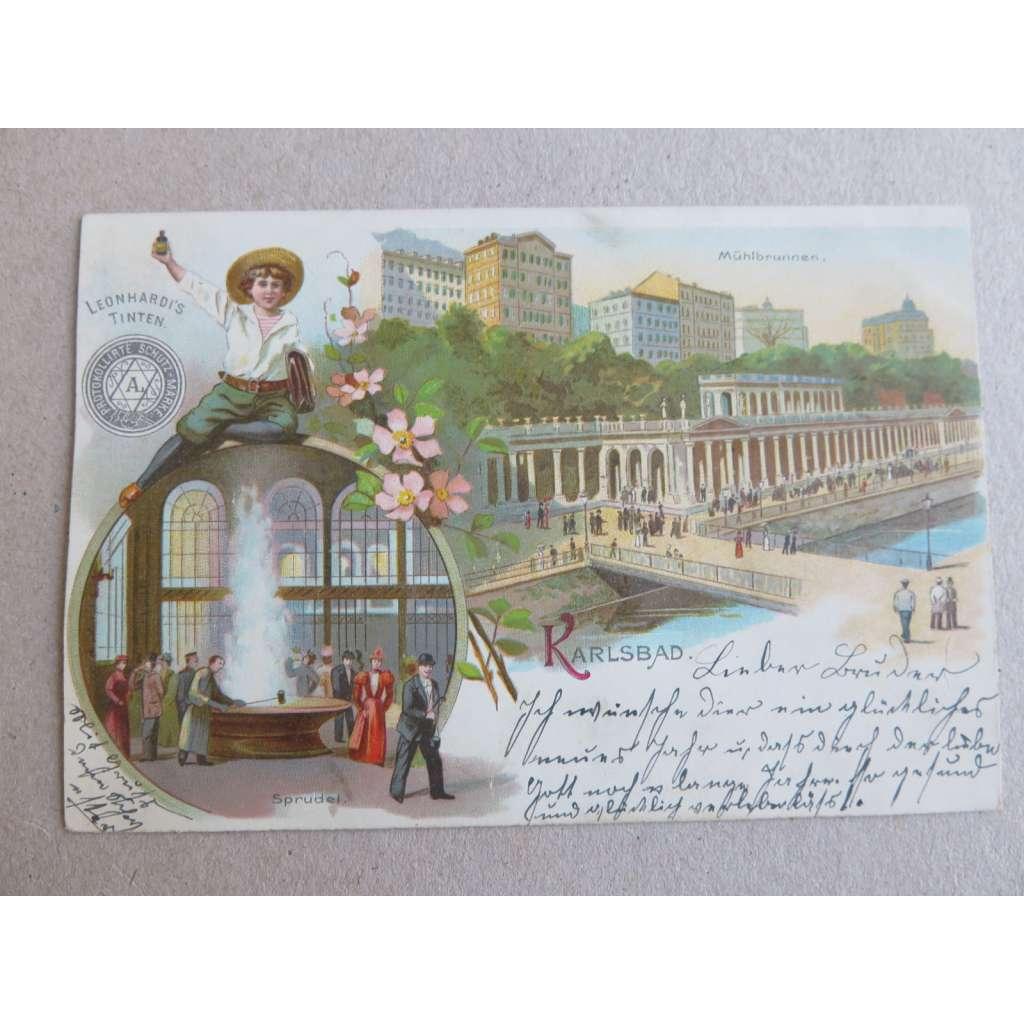 Karlovy Vary litografie