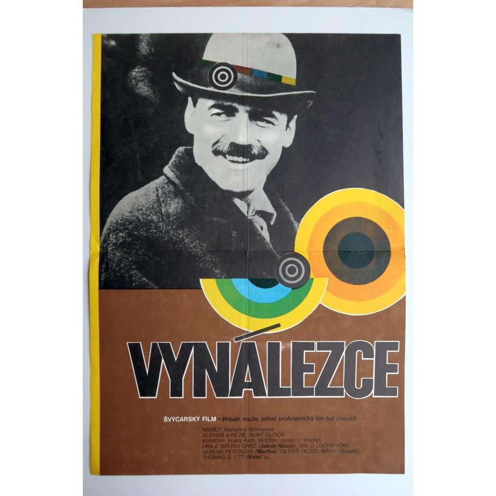 Vynálezce (filmový plakát, film Švýcarsko, režie Kurt Gloor, hraje Bruno Ganz)