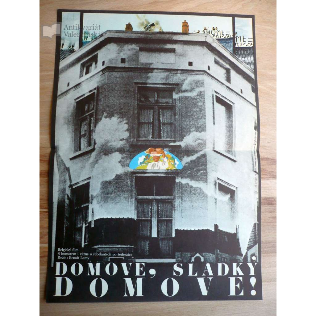 Domove, sladký domove! (filmový plakát, film Belgie 1973, režie Benoit Lamy, hrají Claude Jade, Jacques Perrin, Ann Petersen)