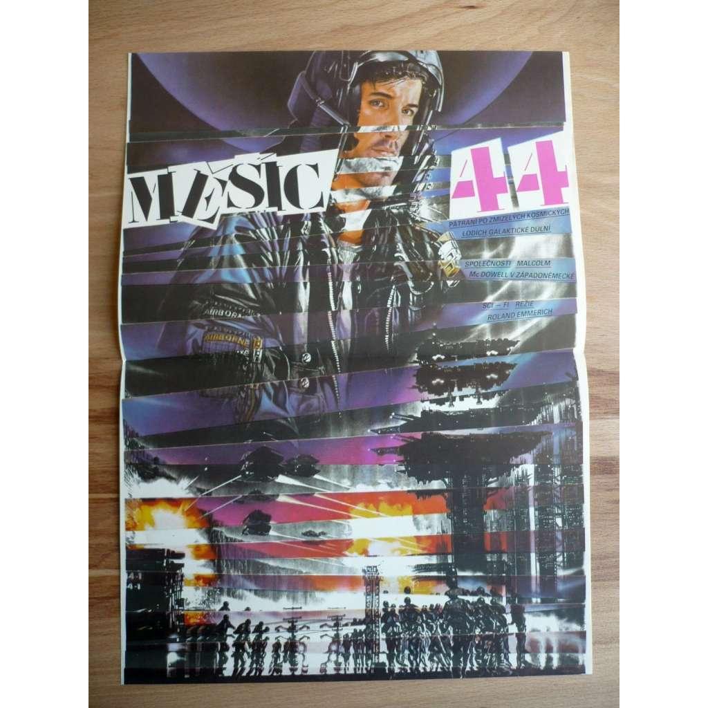 Měsíc 44 (filmový plakát, sci-fi film SRN 1990, režie Roland Emmerich, Hrají: Michael Paré, Lisa Eichhorn, Dean Devlin)