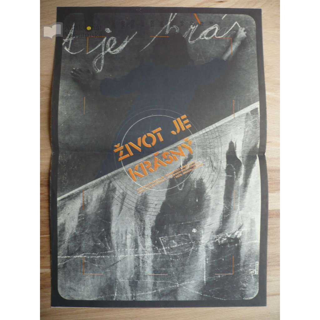 Život je krásný (filmový plakát, film SSSR 1979, režie Grigorij Čuchraj, Hrají: Giancarlo Giannini, Ornella Muti, Juozas Budraitis)