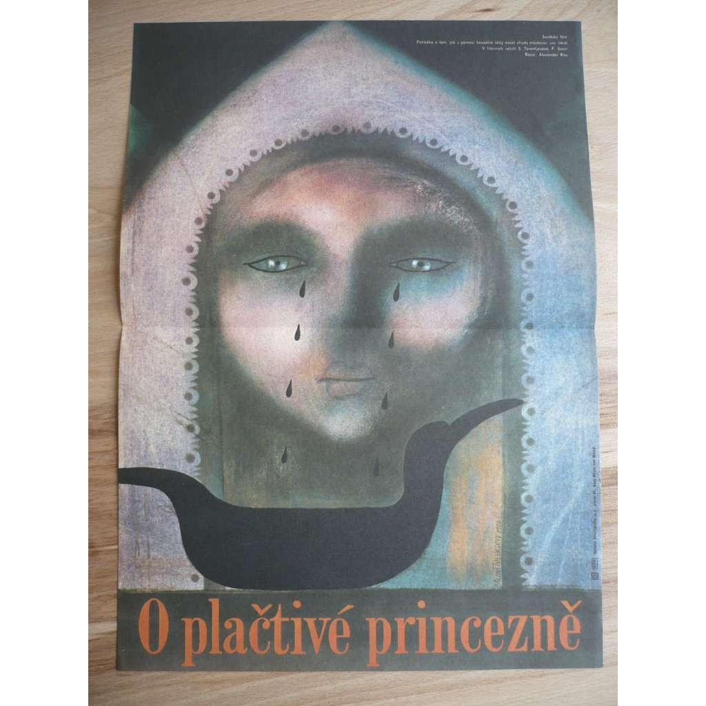O plačtivé princezně (filmový plakát, film SSSR 1938, režie Alexandr Rou, Hrají: Pjotr Savin, Georgij Milljar, Lev Potěmkin)