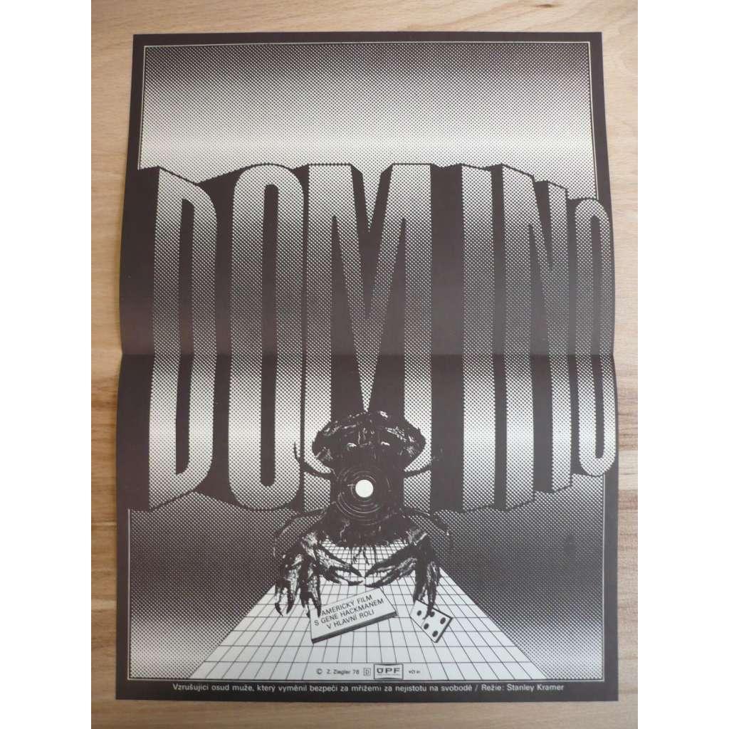 Domino (filmový plakát, film USA 1977, režie Stanley Kramer, Hrají: Gene Hackman, Candice Bergen, Richard Widmark)