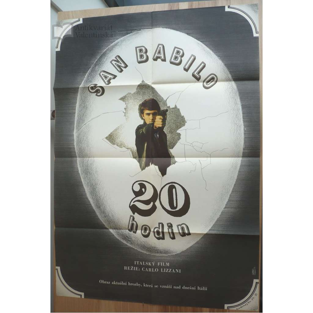 San Babilo: 20.00 hodin (filmový plakát, film Itálie 1976, režie Carlo Lizzani, Hrají: Daniele Asti, Brigitte Skay, Pietro Brambilla)