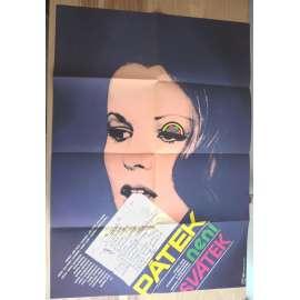 Pátek není svátek (filmový plakát, film ČSSR 1979, režie Otakar Fuka, Hrají: Petr Kostka, Jorga Kotrbová, Magdalena Reifová)