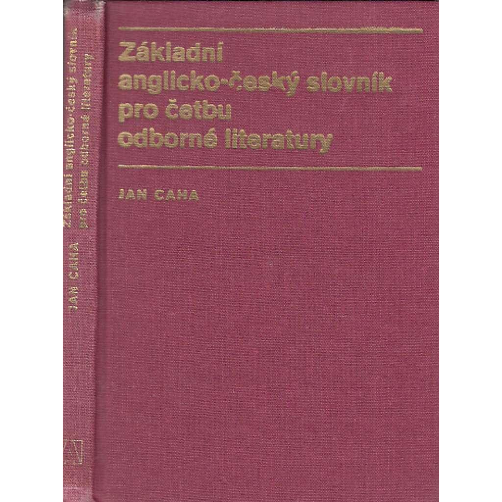 Základní anglicko-český slovník pro četbu odborné literatury