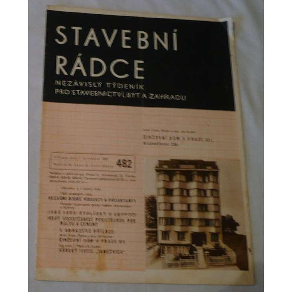 Stavební rádce 1937, roč.X., č.13., č.běžné 482