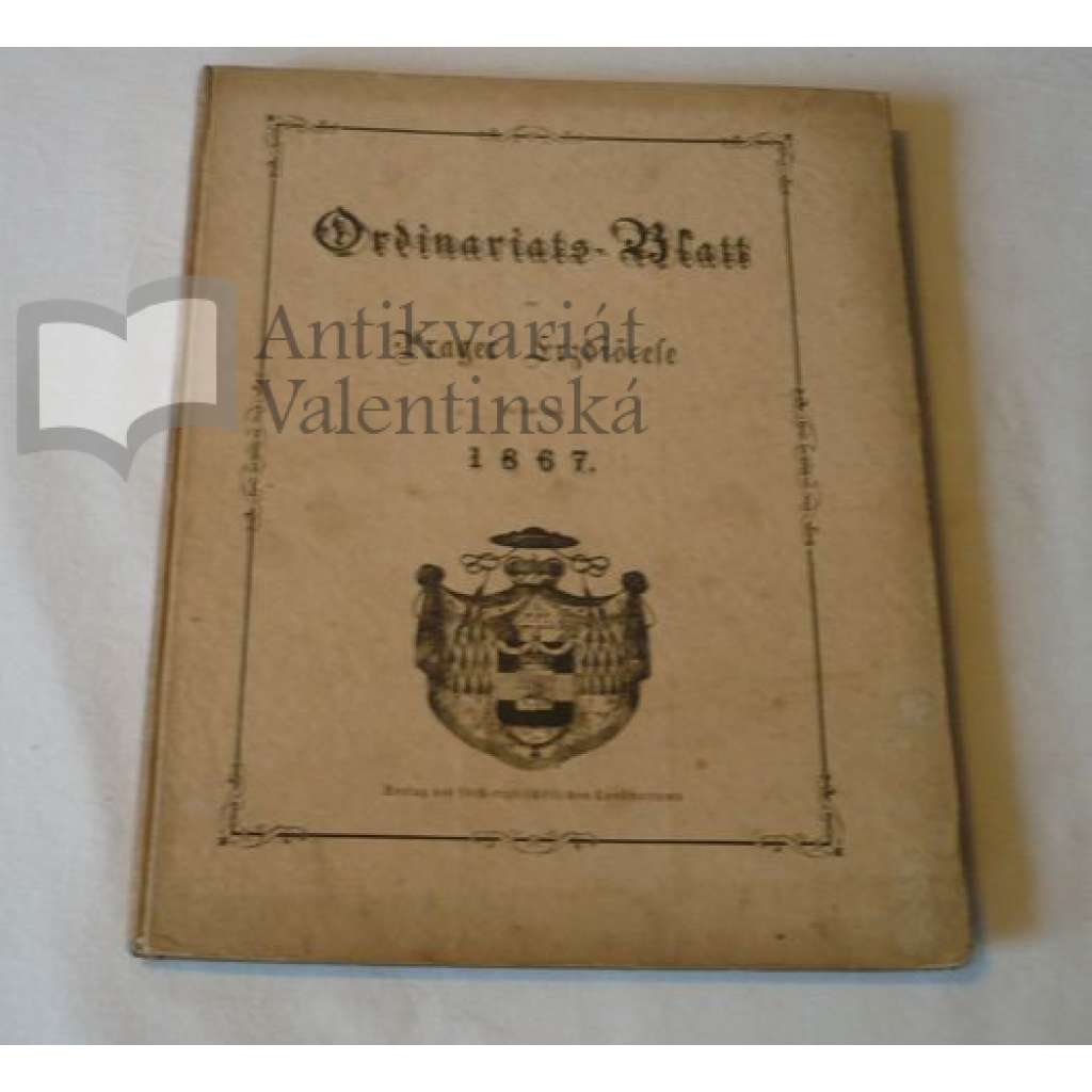 Ordinariátní list na rok 1867