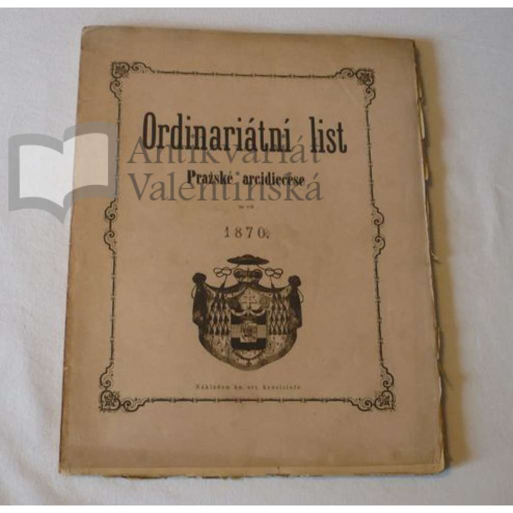 Ordinariátní list na rok 1870