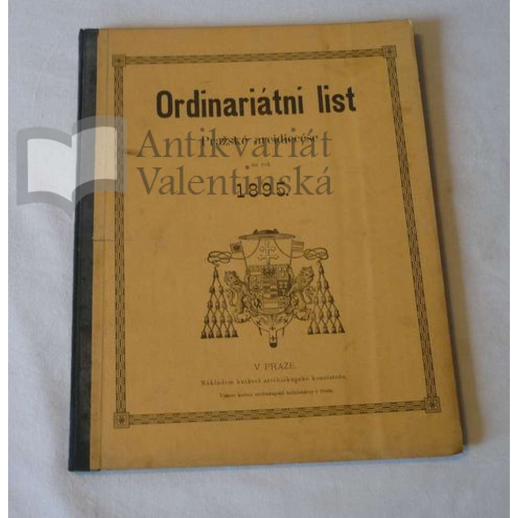 Ordinariátní list na rok 1895