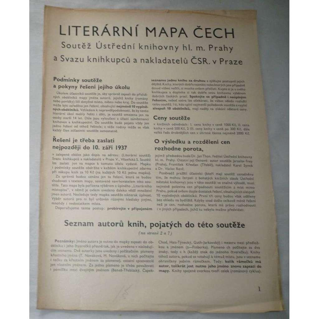 Literární mapa Čech