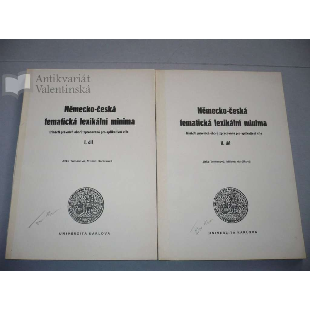Německo-česká tematická lexikální minima, 2 svazky