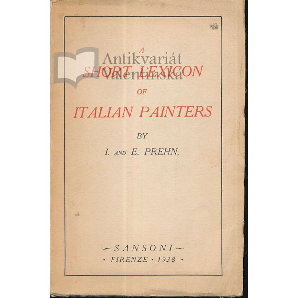 A short lexicon of Italian painters