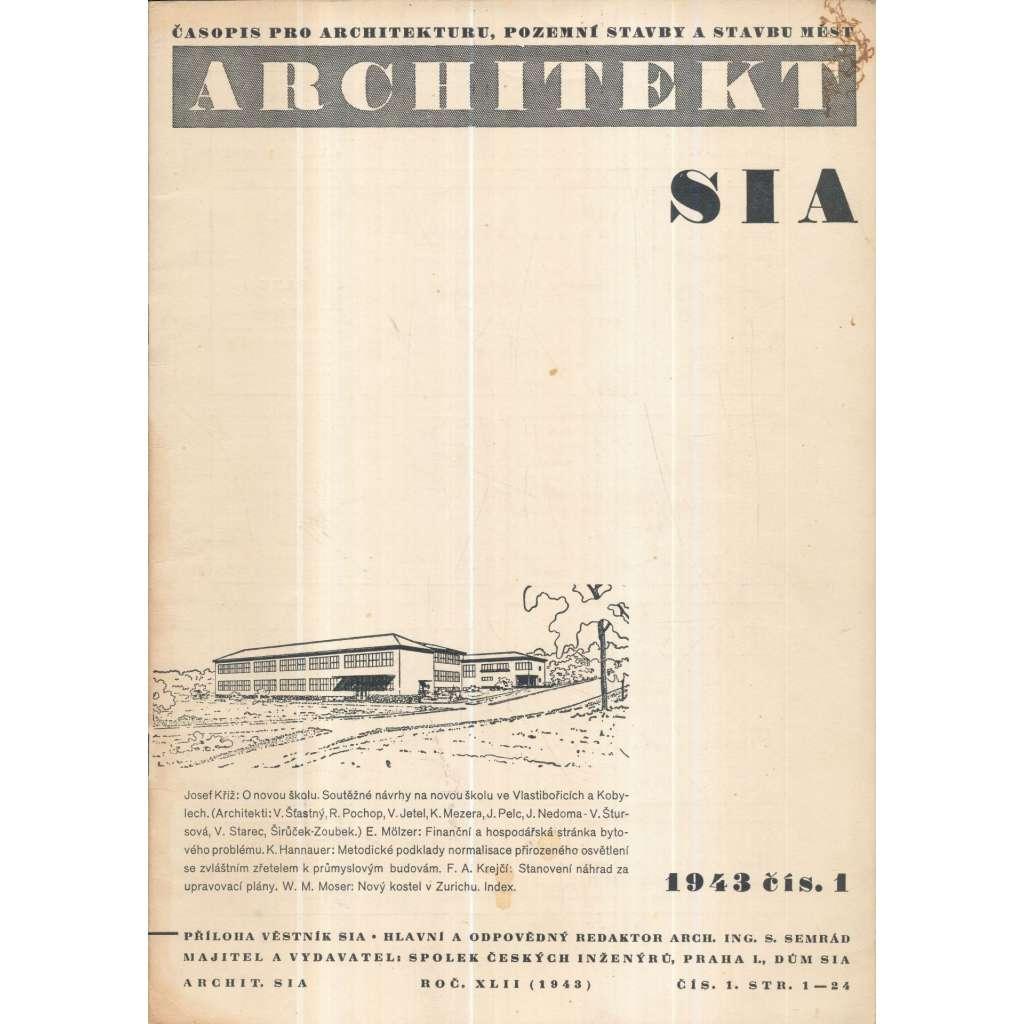 Architekt SIA, č. 1/XLII (1943)
