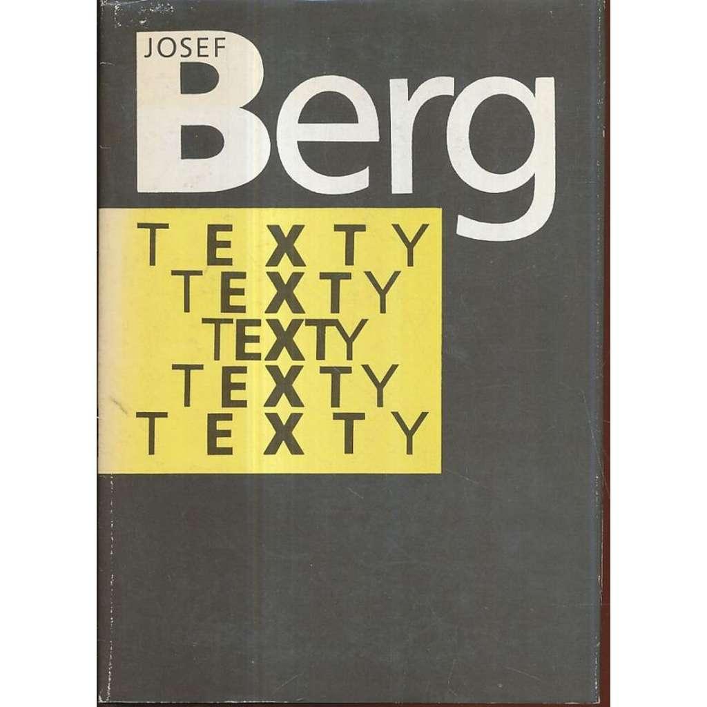 Josef Berg. Texty