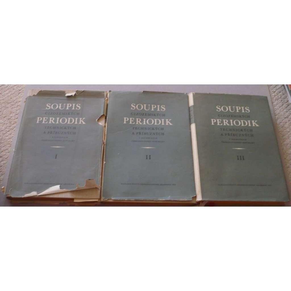 Soupis cizozemských periodik, 3 svazky