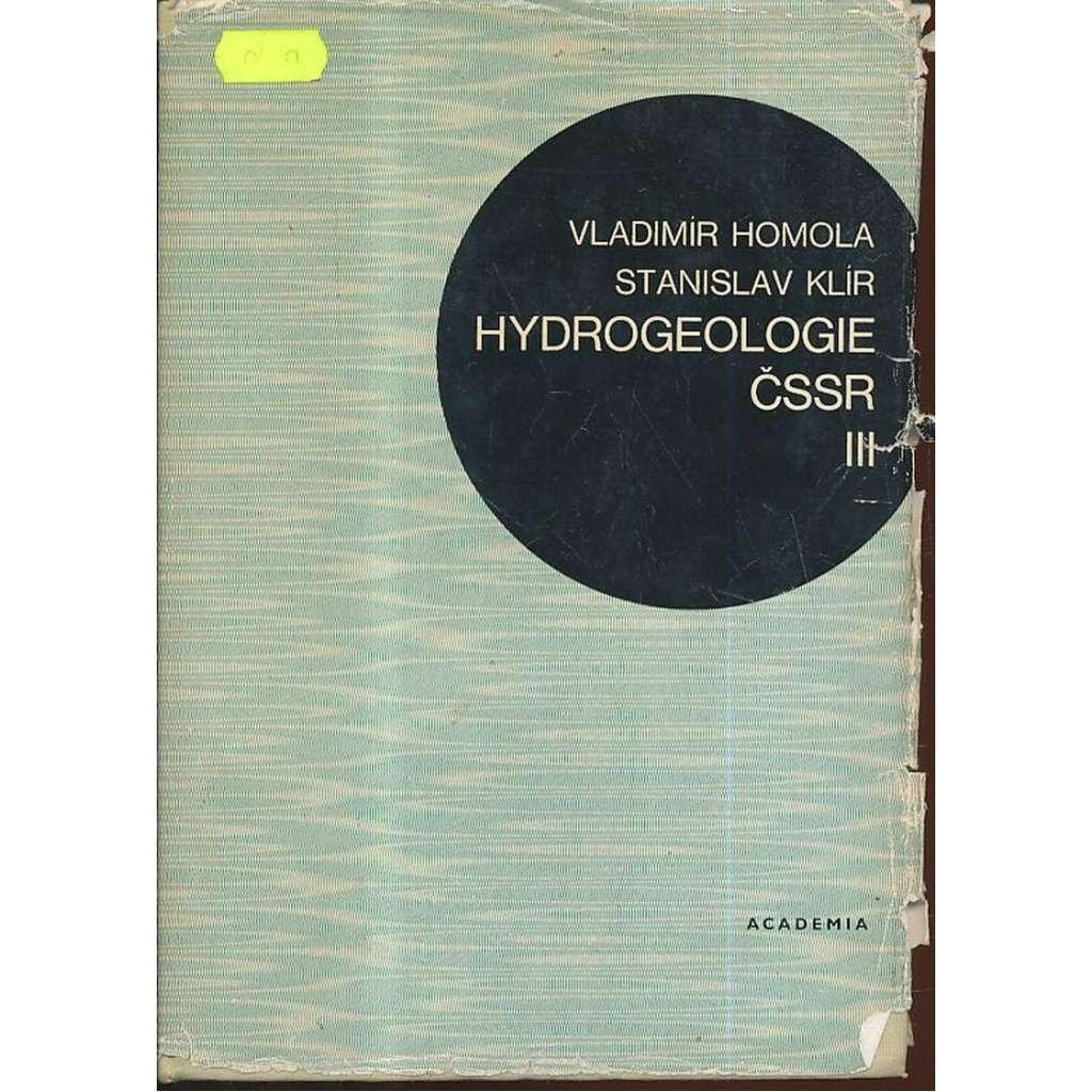 Hydrogeologie ČSSR, III. Hydrogeologie ložisek nerostných surovin.