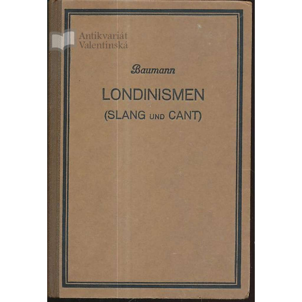 Londinismen (Slang und Cant)