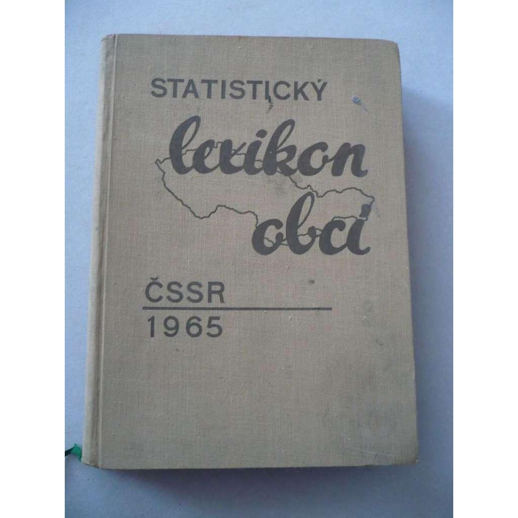 Statistický lexikon obcí ČSSR 1965