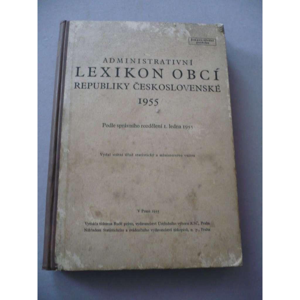 Administrativní lexikon obcí Republiky...1955