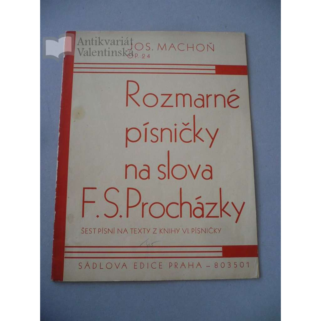 Rozmarné písničky na slova F.S.Procházky