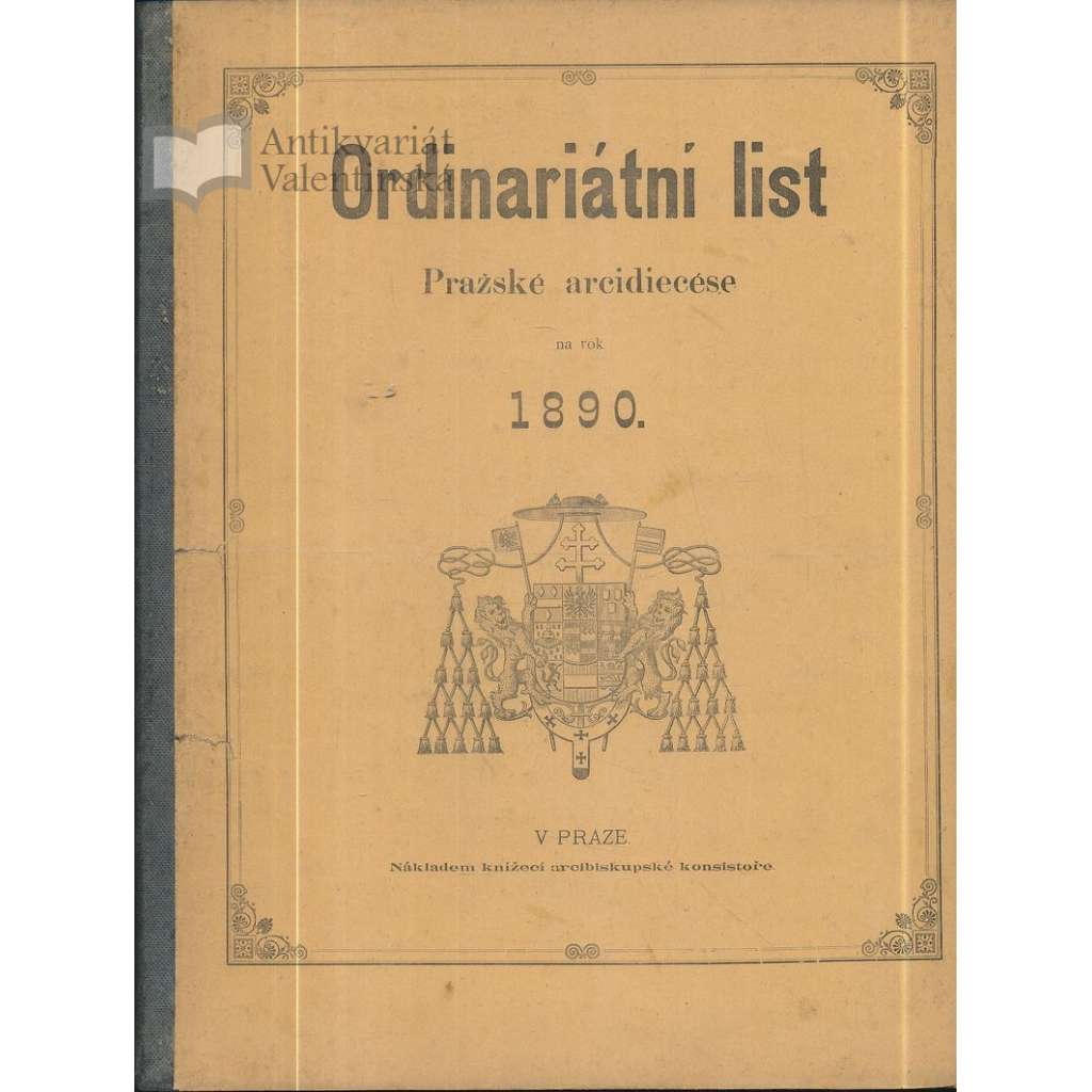 Ordinariátní list na rok 1890