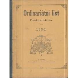 Ordinariátní list na rok 1890