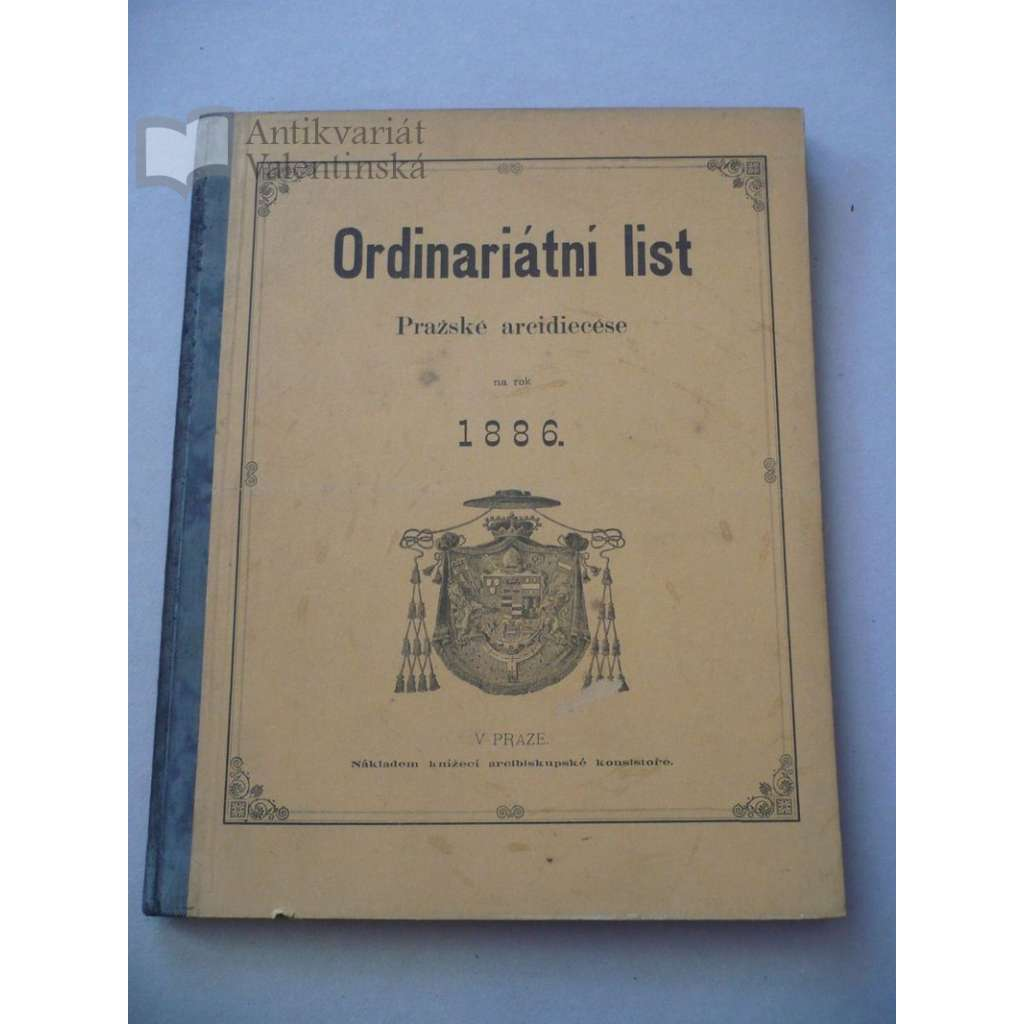 Ordinariátní list na rok 1886