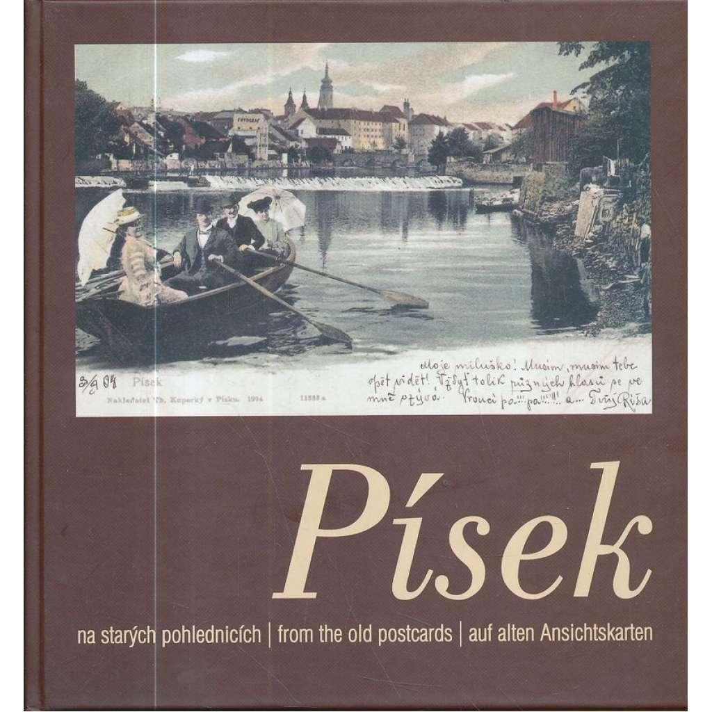 Písek na starých pohlednicích / from the old postcards / auf alten Ansichtskarten