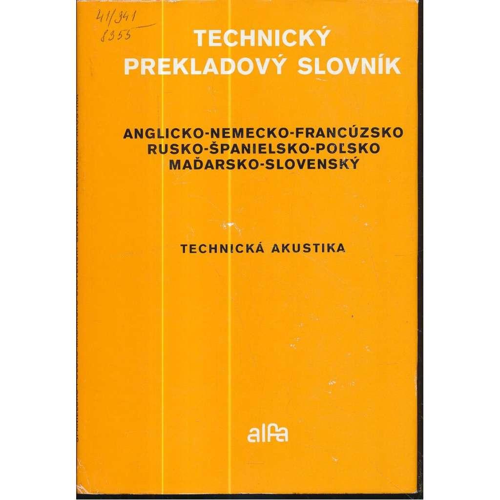 Technický prekladový slovník. Technická akustika