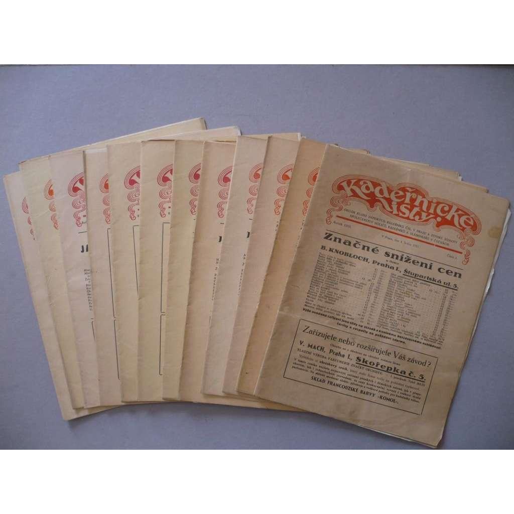 Kadeřnické listy, roč. XXIII. (1935) - (kadeřnictví, móda)