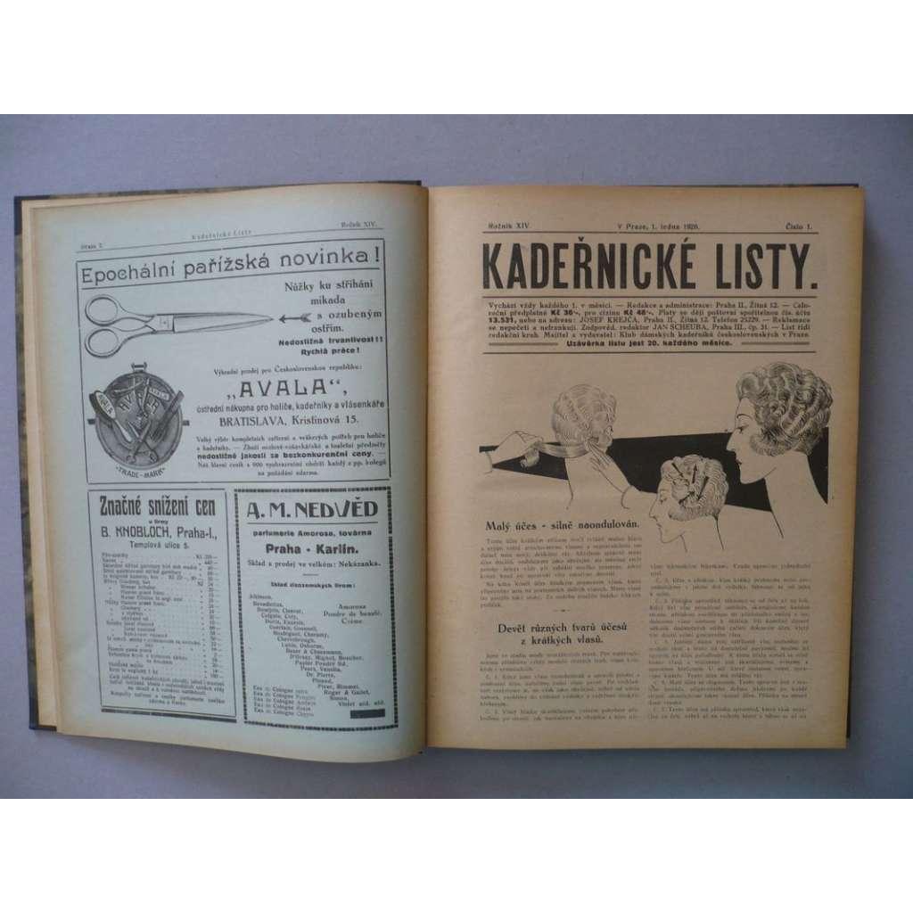 Kadeřnické listy, roč. XIV.(1926) - (kadeřnictví, móda)