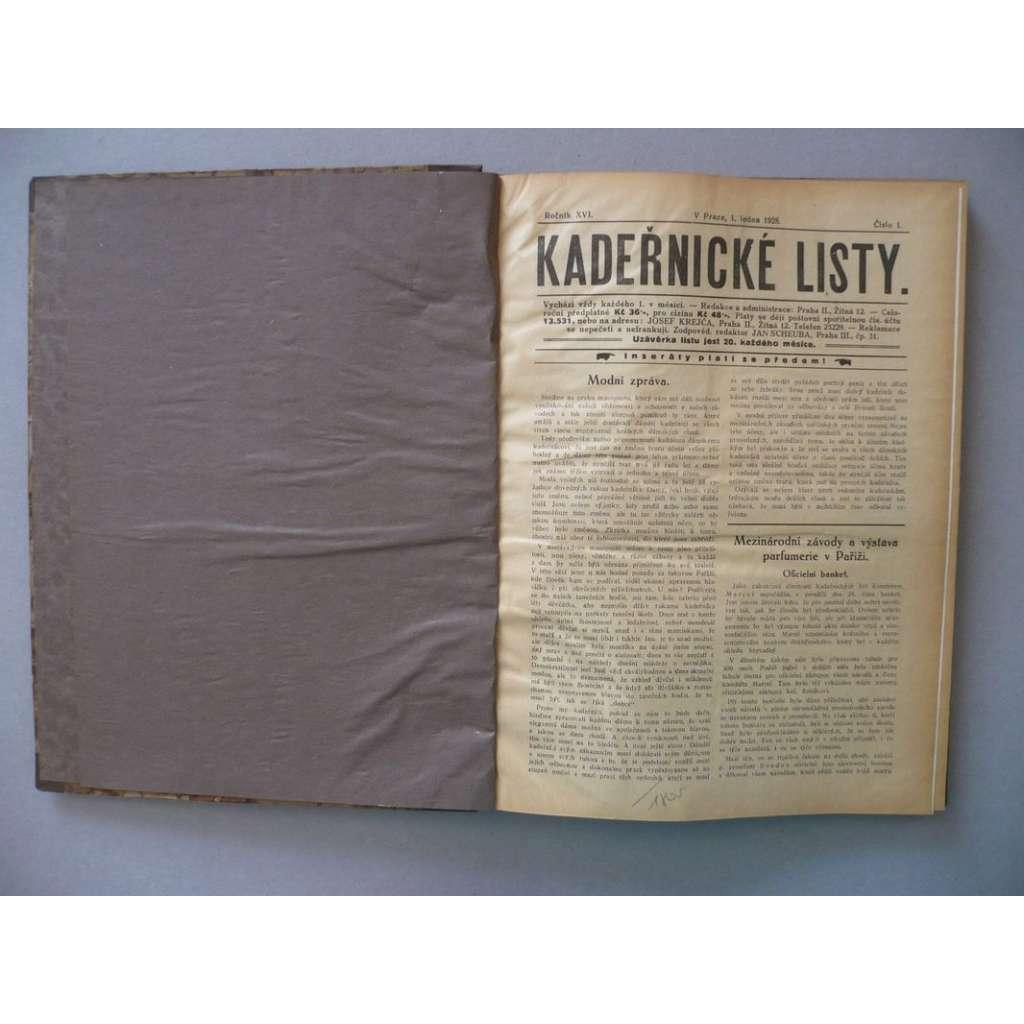 Kadeřnické listy, roč. XVI.(1928) - (kadeřnictví, móda)