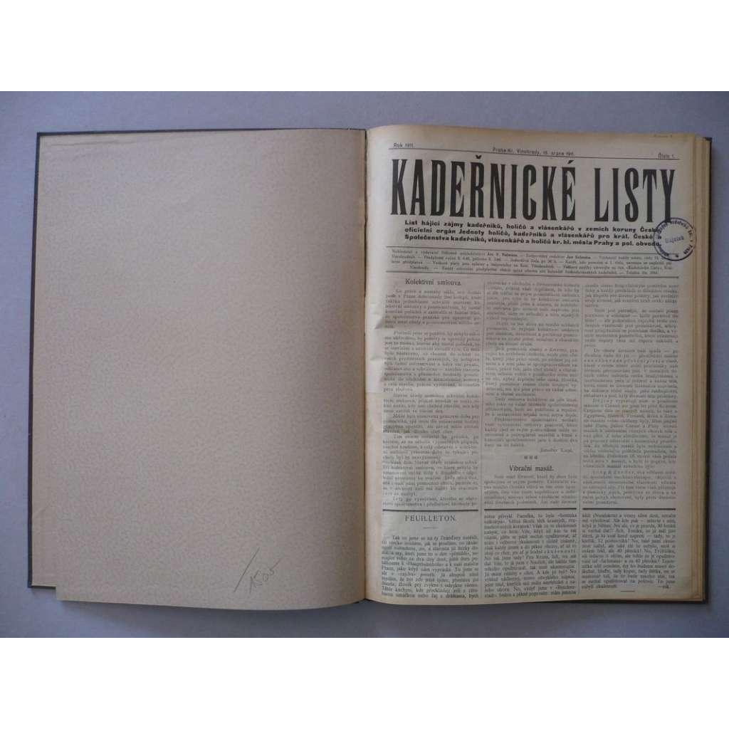 Kadeřnické listy, roč. III. (1911) - (kadeřnictví, móda)