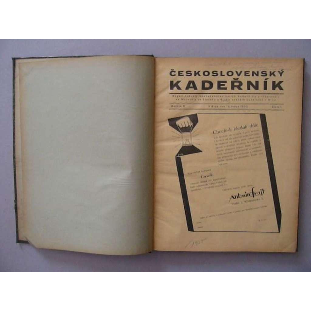 Československý kadeřník, roč. X. (1933) - (kadeřnictví, móda)