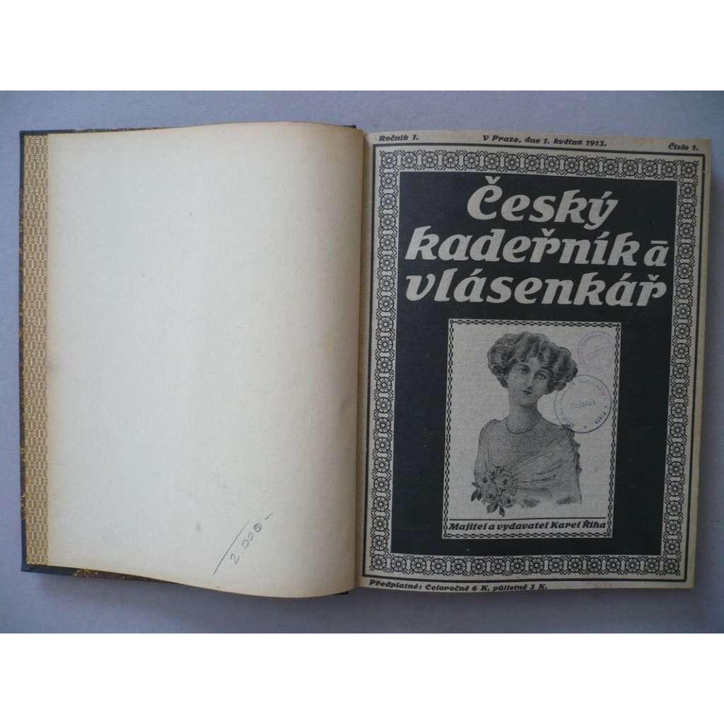 Český kadeřník a vlásenkář, roč. I., (1913) - (kadeřnictví, móda)