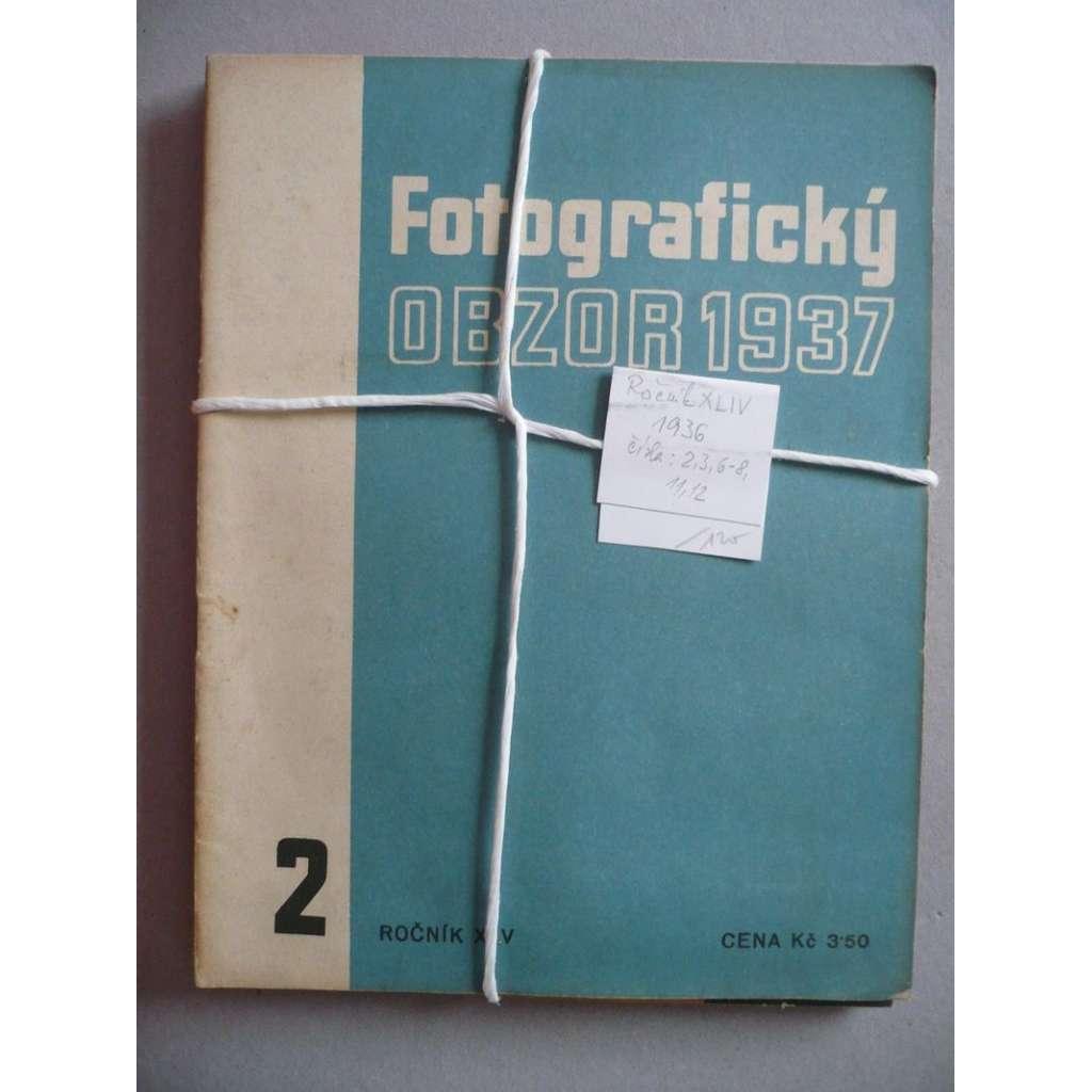 Časopis Fotografický obzor, ročník XLIV (1936), sešity s obálkami