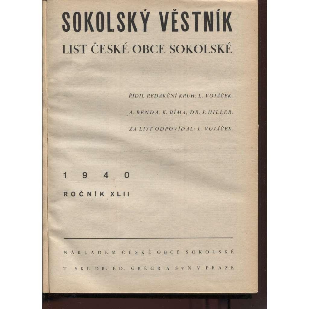 Sokolský věstník. List České obce sokolské 1940-1941