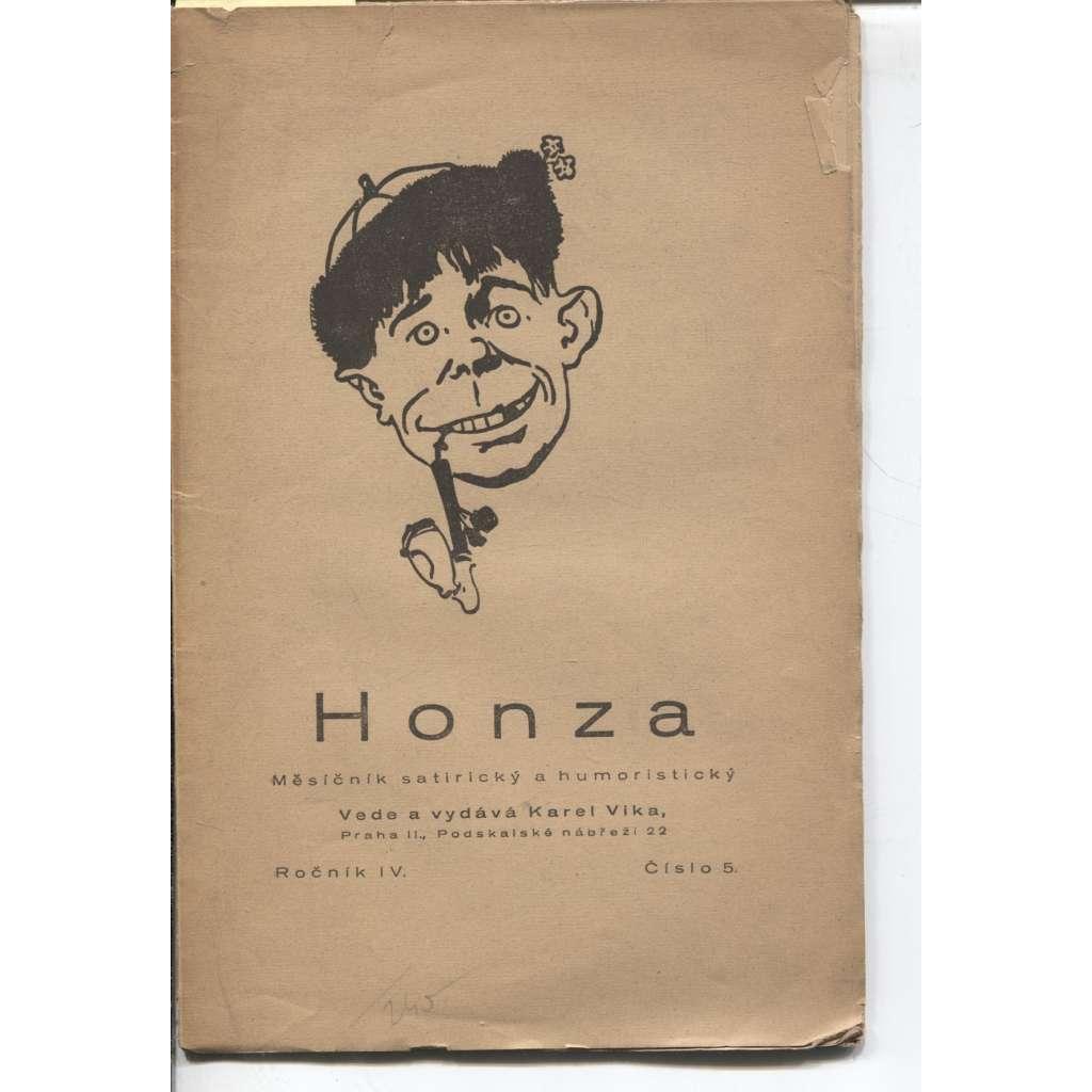 Honza, ročník IV., číslo 5./1924 (Měsíčník satirický a humoristický)