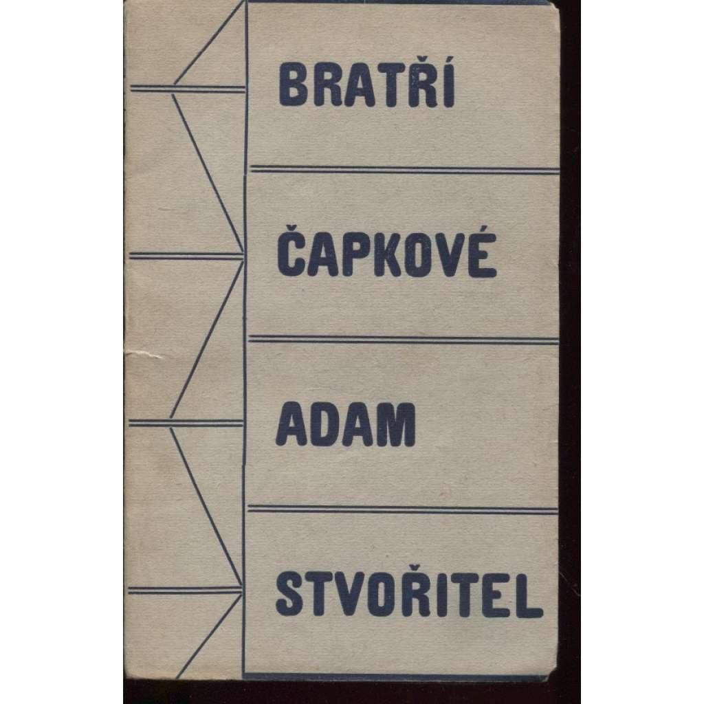Adam Stvořitel (obálka Josef Čapek)